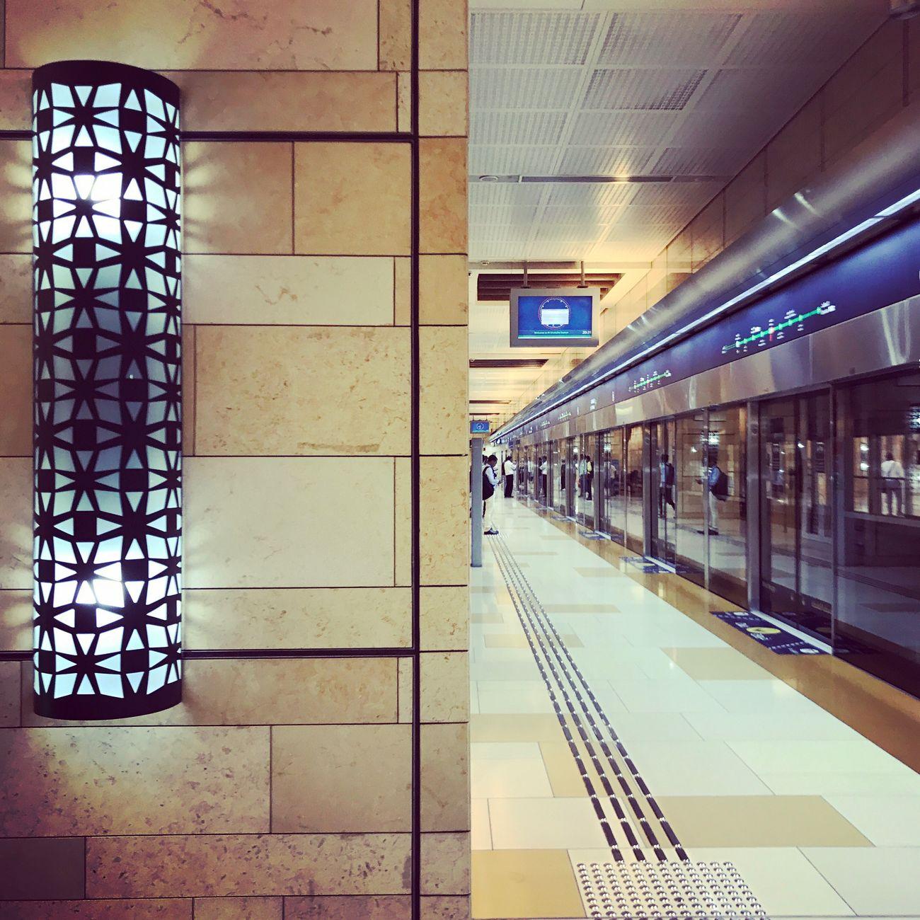 Transportation Indoors  Illuminated Metro Ghubaiba Dubai Architecture The Architect - 2017 EyeEm Awards EyeEmNewHere