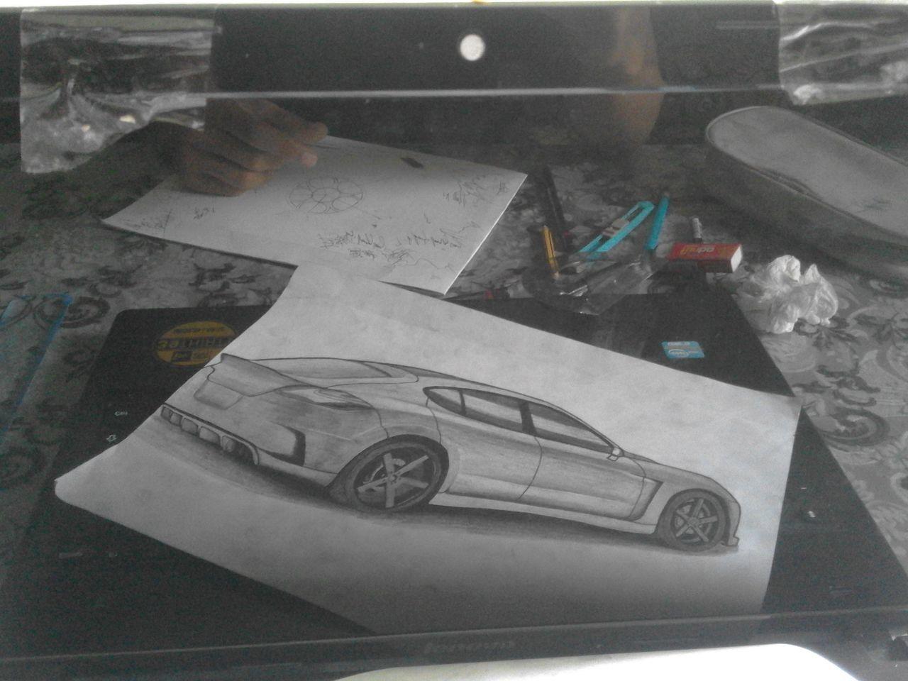 3D Drawing Drawing G580 Lenovo Panamera Porshe Pencil Drawing Porsche First Eyeem Photo