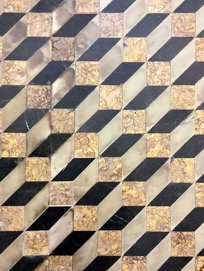 Neapolitan paving Geometric Shape Paving Stone Pattern Full Frame Backgrounds Checked Pattern No People Tile Indoors