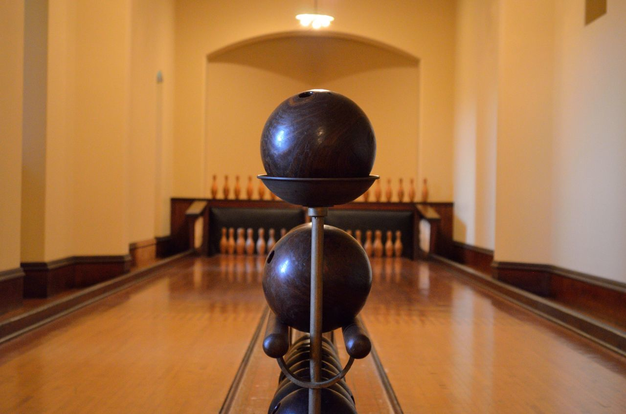 Ball Bowling Bowling Alley Bowling Balls Bowling Pins Bowling Room Close-up Electric Lamp Glowing Illuminated Indoor Bowling Light Light Bulb Lighting Equipment Lit No People Old Bowling Pins Sport Sports Wood - Material Wood Ball Wooden Bowling Wooden Texture
