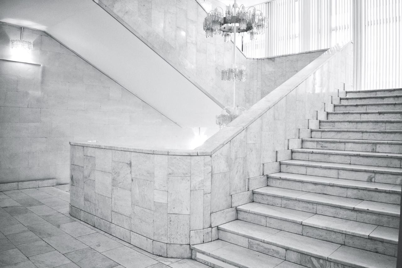 Stairs Indoors  Railing Steps And Staircases Steps Staircase Built Structure Architecture Stairs No People Illuminated Day Stairs Stairways Indoors  Stairs_collection Architecture_collection Architecture Urban Geometry Geometric Shape Interior Design Shapes And Lines Black And White Architecture_bw Black & White Black And White Photography