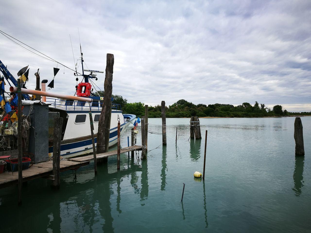 Hello World sea Water Reflections Boat