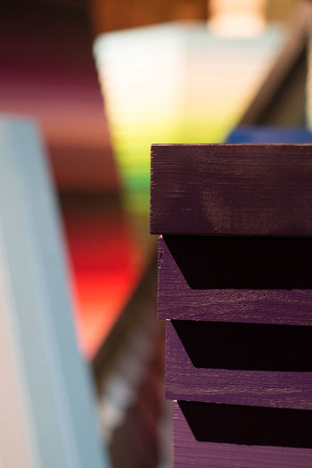 Close-up Day Focus On Foreground Indoors  Multi Colored No People Perspectives Playground Stack Wood - Material