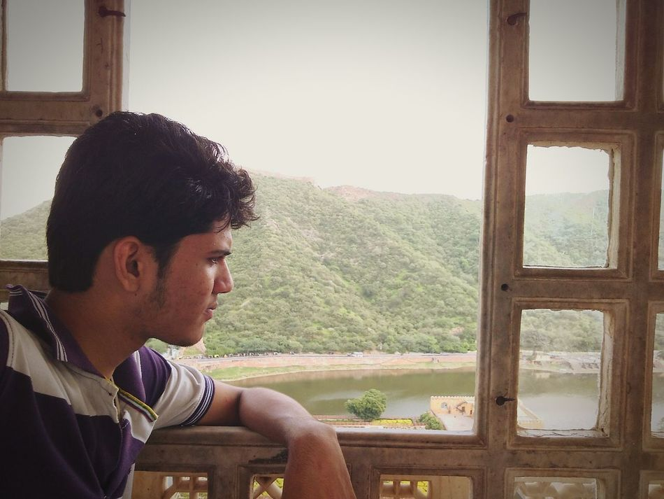 Feel The Journey Trip Photo Amber Fort Jaipur Incredible India Beauty In Nature Hill Greenery Expression View Royal Rajasthan Landscape Flower Garden Pond Yashansh_photography