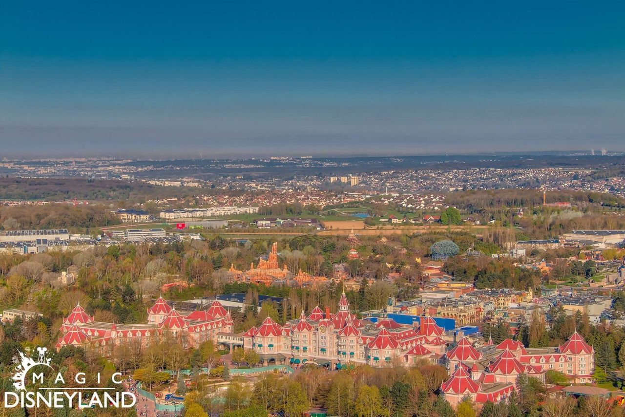 Aerial View High Angle View Illuminated Waltdisney Disneyland Paris Disney Disneylandparis Disneyland Resort Paris Travel Destinations Neverland Disneylandhotel