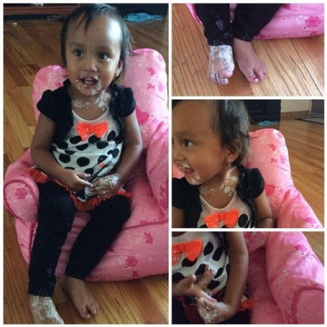 And this is what happened when it get quiet ???? Nailpolish Littlesister ZanaBana Toomuch