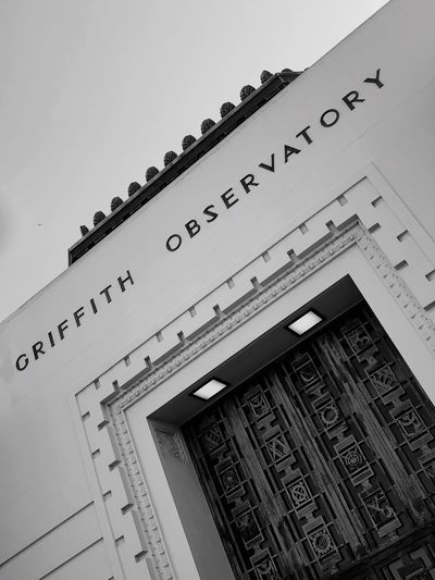Losangeles Grififth Observatory Low Angle View Architecture Communication Built Structure No People Day Building Exterior Outdoors