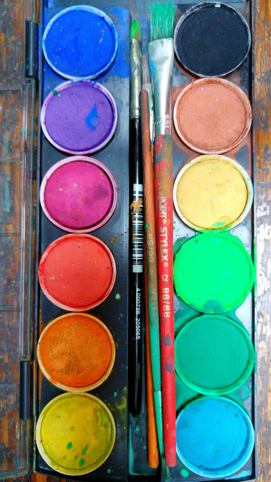 Wasserfarben Wasserfarbkasten Färben Farbenfroh Farbenpracht Colours Colourful Coloursplash Colour Explosion Painting PaintBox Box Of Paint Watercolours Watercolors  WaterColorCollection Collection Home Is Where The Art Is Color Palette Handmade For You