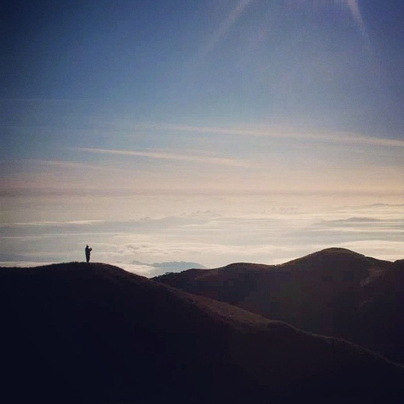 He found Solace from peak 4 of mt. Pulag Seaofclouds Alone