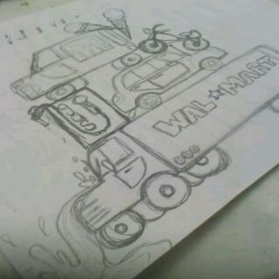 My driving school doodles. Todayinart