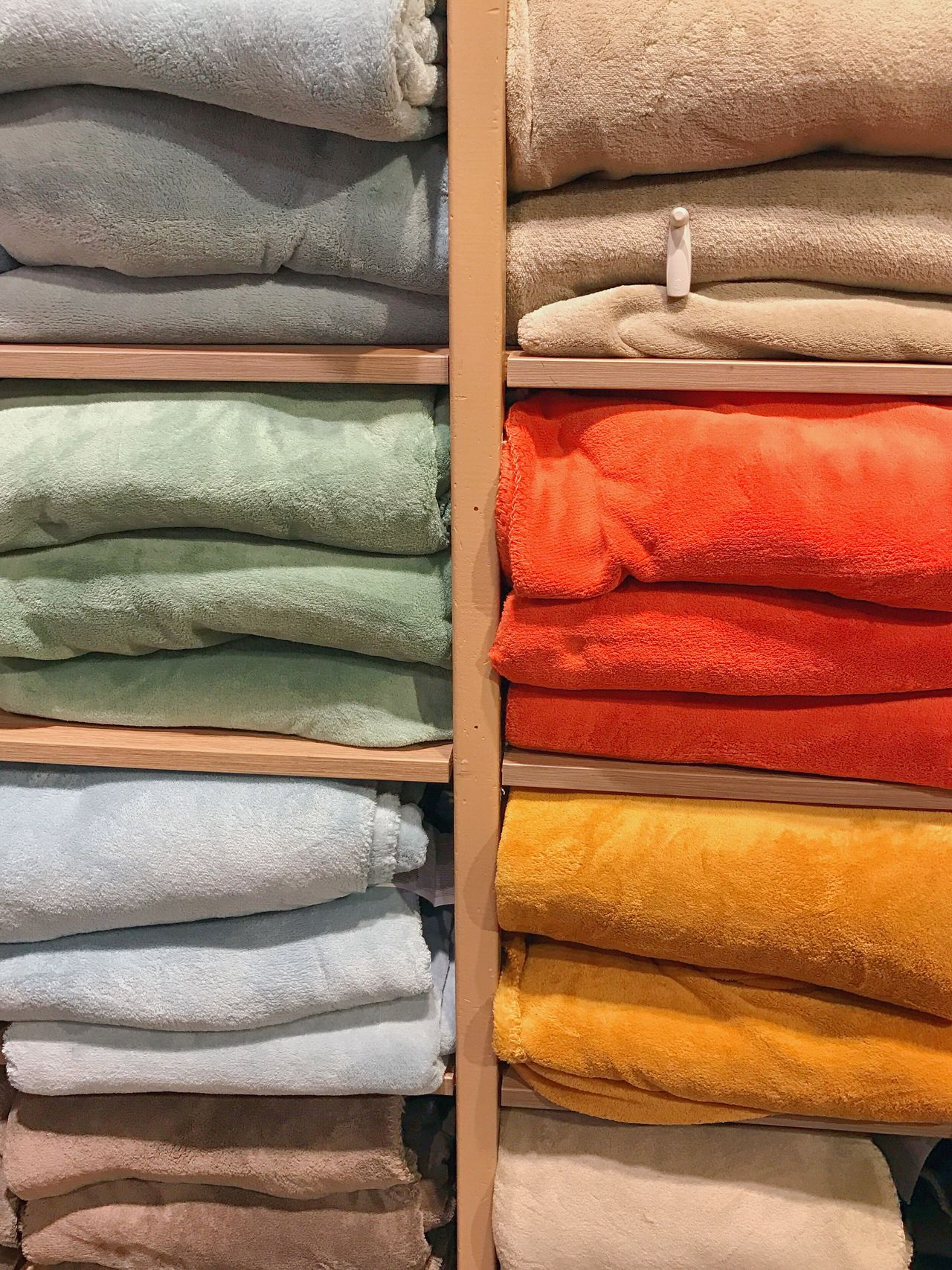 Shop shelves 🌬🌨☃️ Retail  Full Frame Multi Colored Variation No People Choice Backgrounds Indoors  Close-up Day Cozy Warm Winter Always Be Cozy Plaid Blanket Shop Shopping Mall Shelf