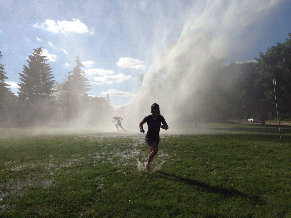 Sprayed Water Silhouette Splash Summer