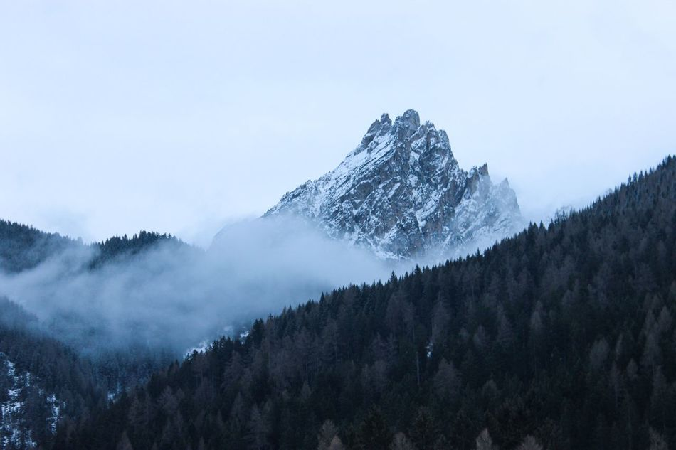 Road trip to Dolomites! Mountain Nature Tranquility Snow Winter Beauty In Nature Scenics Tree EyeEm Nature Lover EyeEm Best Shots Landscape Travel Italia Explore Nature Tranquil Scene Cold Temperature Weather Fog Idyllic Outdoors Mountain Range No People Day Sky