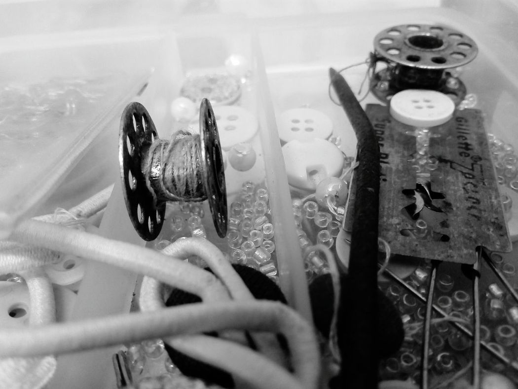 Indoors  Close-up No People Day Simple Photography Sewing Kit Sewing Stuff Sewing Accessories Blades From My Point Of View Black And White Blackandwhite Beauty In Ordinary Things Best Of EyeEm One Person Nopeople Maximum Closeness EyeEm Gallery EyeEmBestPics Sewing Material