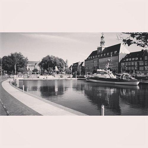 Emden Delft Emden Delft Ostfriesland Northcoast Germany Blackandwhite Rathaus Cityhall Thursday Bw Heimat