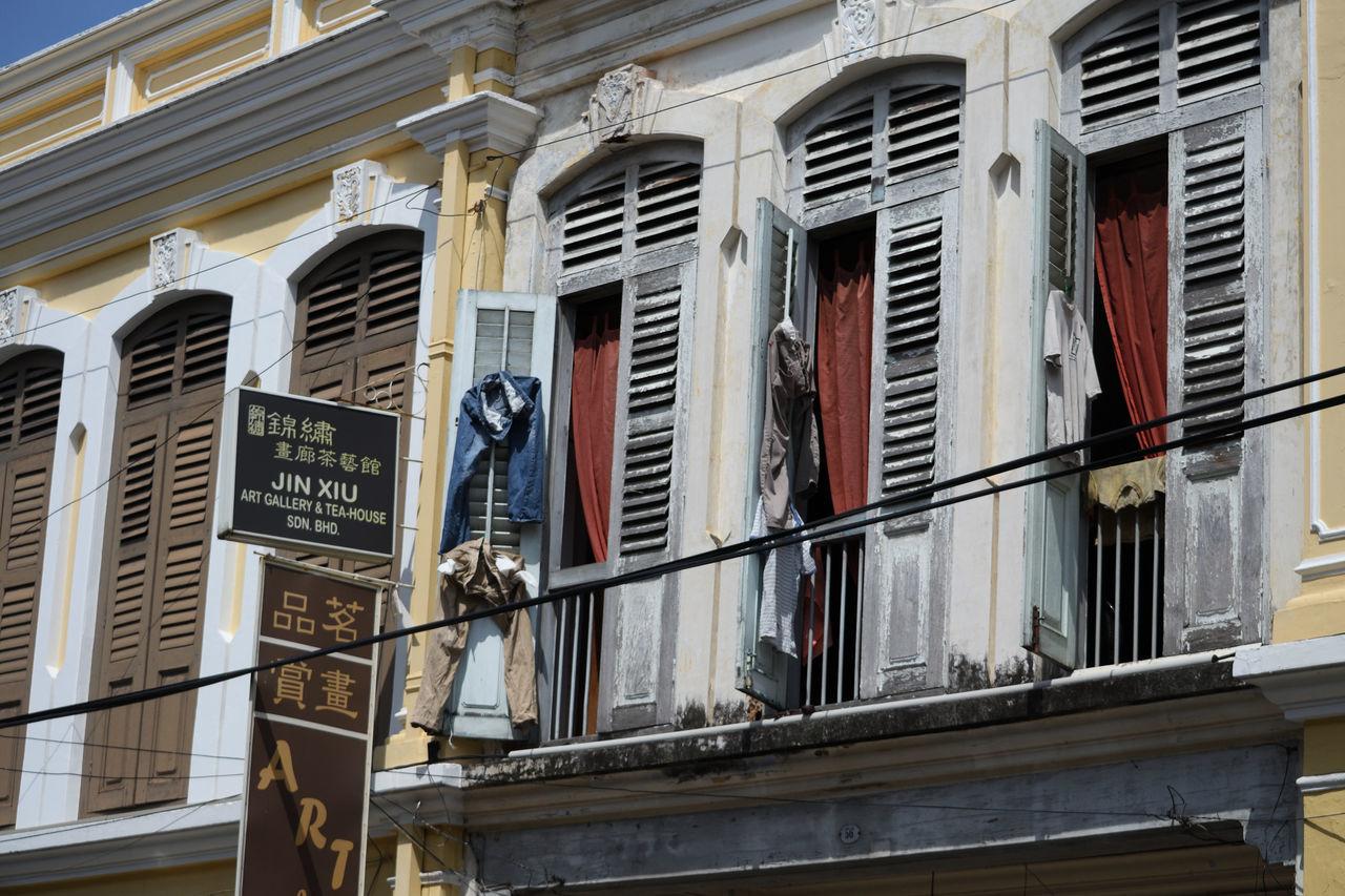 Balcony City Cloth Clothes Jeans Miles Away Penang Penang Island Penang Malaysia Window Windows