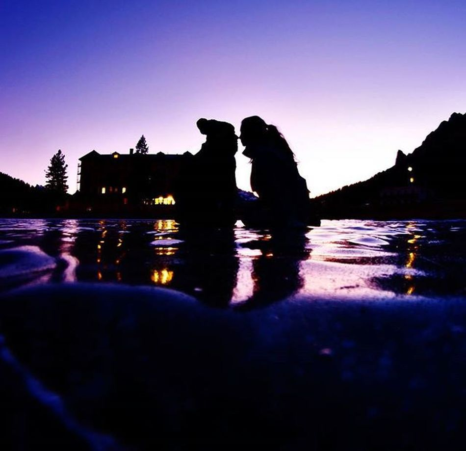 Me And Him Onice Misurina Frozenlake Holidays Lovehim Violet Sunset Mountains Stillness Canon Canonphotography Canon_official Canon_photos
