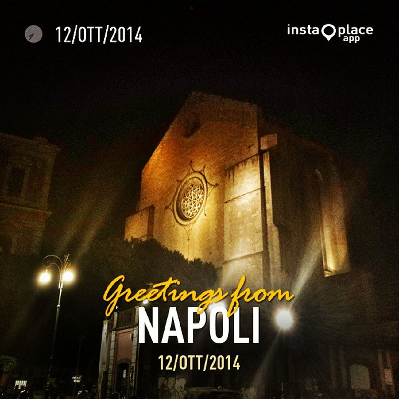 InstaPlace Sky Outdoors Nature world lovebeautiful cool colorful amazing Napoli Italy Night Italia