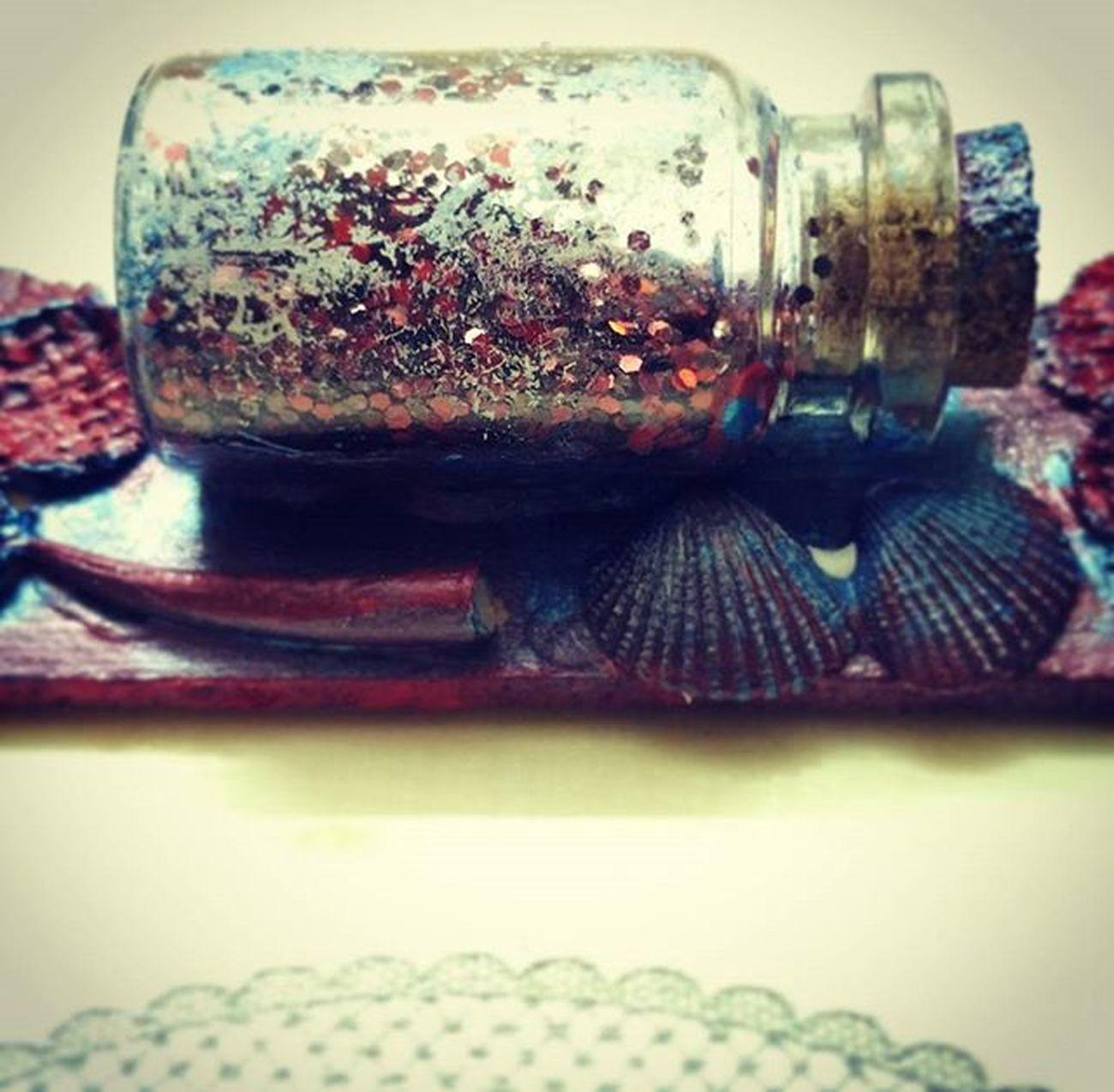 Art Corkbottle Seashells Loveart Craft Pye_arts