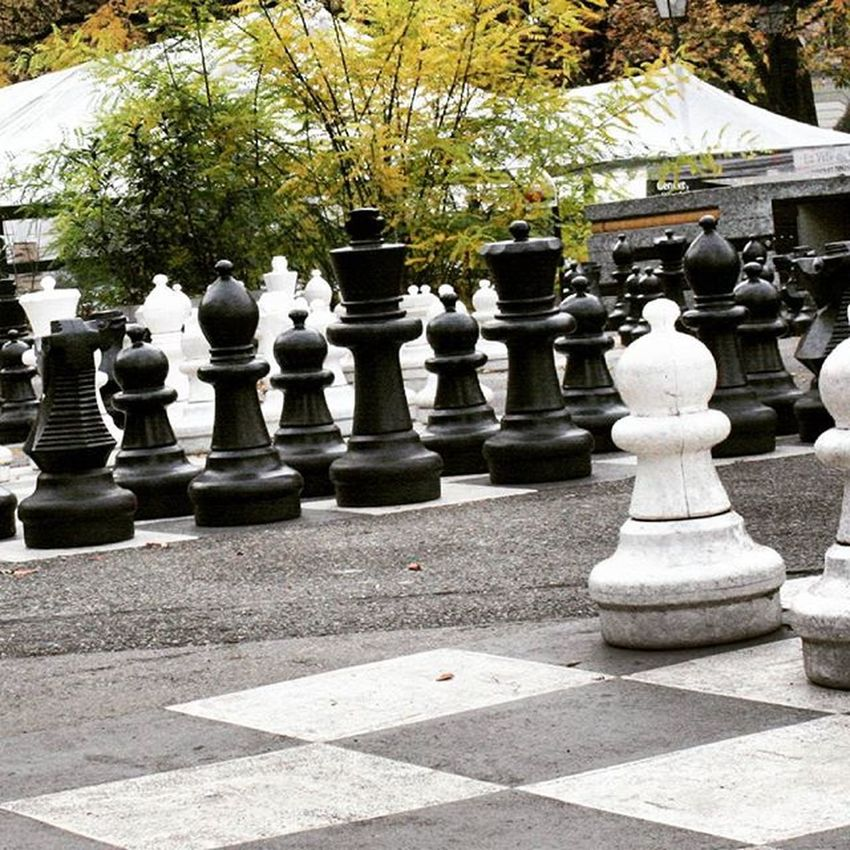 Playing giant chess in Parc de Bastions, Geneva. Geneva Geneve Switzerland Love Travel Explore Adventure Park City Nature Trip Journey Chess Beautiful Stunning Scenery View Mountains Alps artflakes.com/shop/philipp-tillmann (link in biography)
