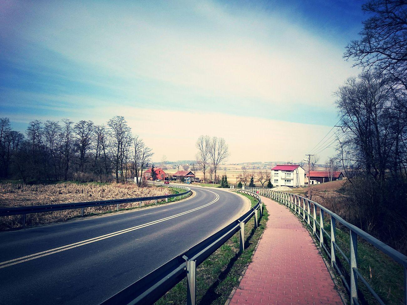 On The Road Poland Landscape Road View Hello World Taking Photos Blue Sky w Donosy Świętokrzyskie