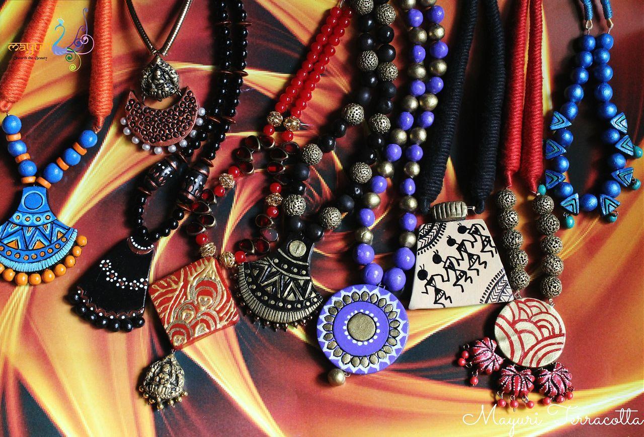 Handmade Jewellery Handmade Jewelry Handmade Accessories Handmadewithlove Jewelrydesign Artisanjewelry Designer  Terracotta Jewellery.. Terracotta Cla Love Clay Art Mayuriterracotta Jewellery Jewelry Potteryjewelry HandPainted