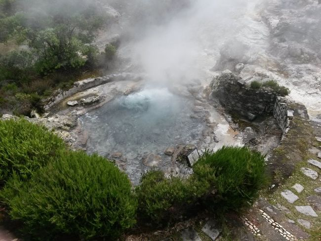 Nature Scenics Steam Azores, S. Miguel Furnas(Azoren) Vulcanican Activity Boiling Water