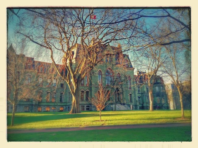 Waiting for snowfall... .. . Architecture Building Exterior College House Day Ghastly Lawn Old Buildings Outdoors Pennsylvania Tranquility Tree Upenn Weather Winter