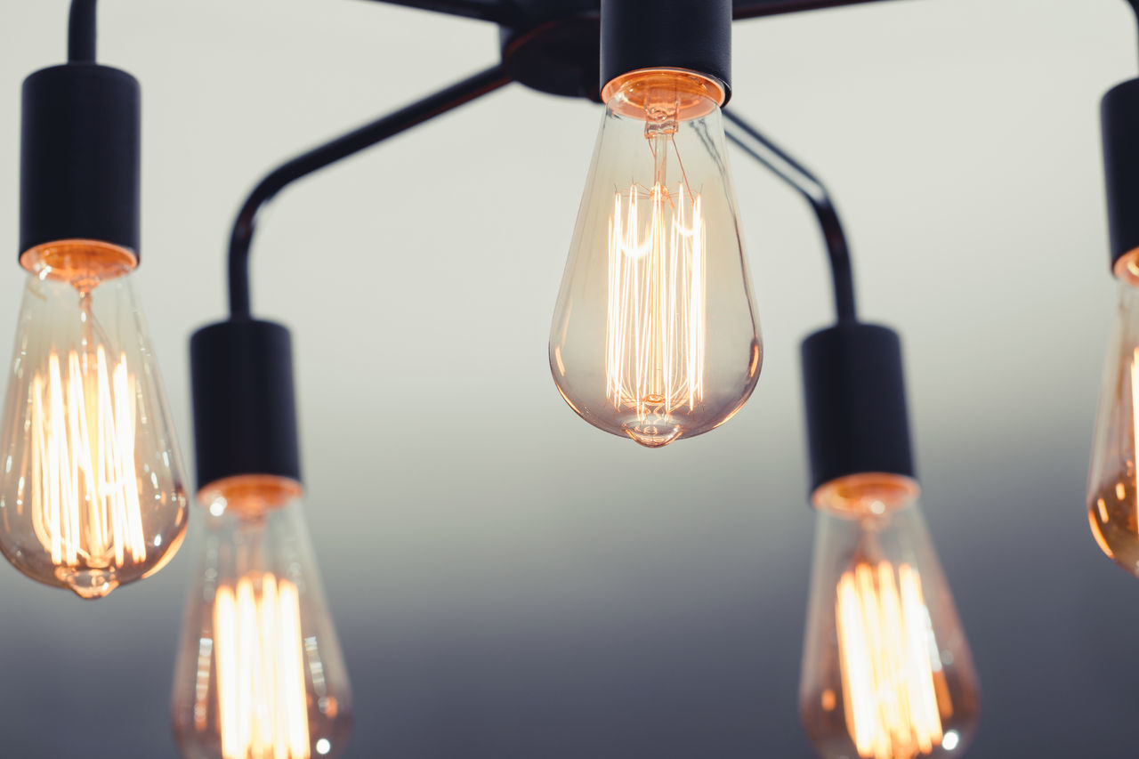 Bulb Close-up Day Electricity  Filament Flame Hanging Illuminated Indoors  Innovation Light Bulb Lighting Equipment No People Technology