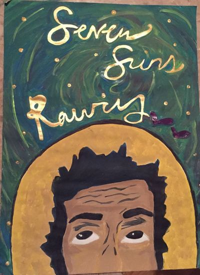 Dedication painting of Raury. One of my faves. Raury Indigo Child Painting Paintings Art Artist Portrait Beauty