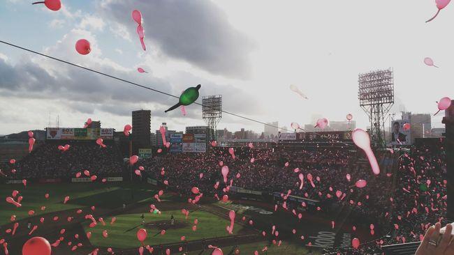 Lucky 7 action! Enjoyment Lifestyles Fun Event Taking Photos Enjoying Life Relaxing Smile :) Baseball Game