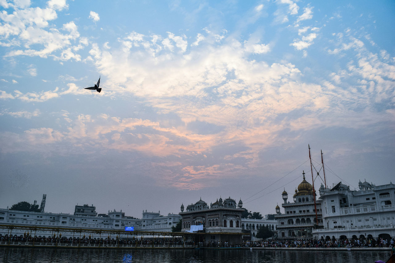 Fly high, fly free. InMakin! Words Akal Takhat Sahib Sky And Clouds Sky Bird Fly Flying Golden Temple, Amritsar Architecture Pool Historical Building Religious Architecture Building Exterior Low Angle View Outdoors EyeEm Best Shots EyeEm Gallery Perspective Taking Photos From Where I Stand My Unique Style Snapshots Of Life Adapted To The City Miles Away Minimalist Architecture Long Goodbye TCPM Break The Mold The Architect - 2017 EyeEm Awards