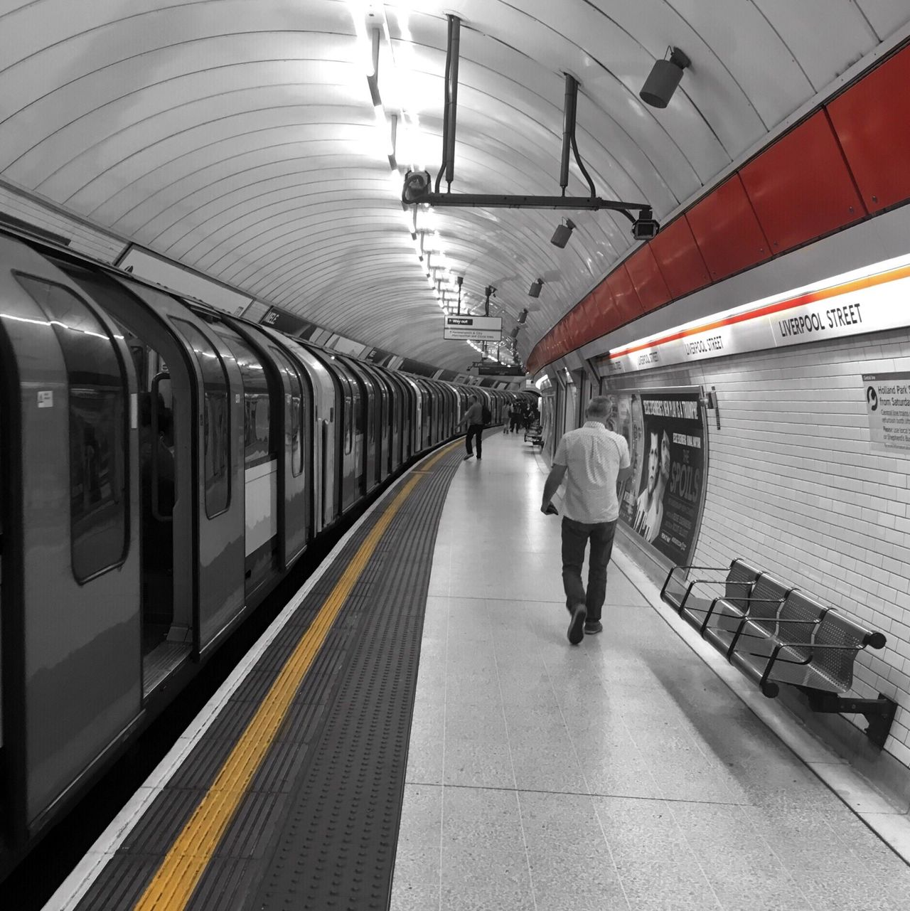 Follow the lines From My Point Of View London Architecture Geometric Shapes Perspective Vanishing Point Public Transportation Urban Reflections Urban Geometry Subway Station Subway Tube Eye4photography  Colorsplash