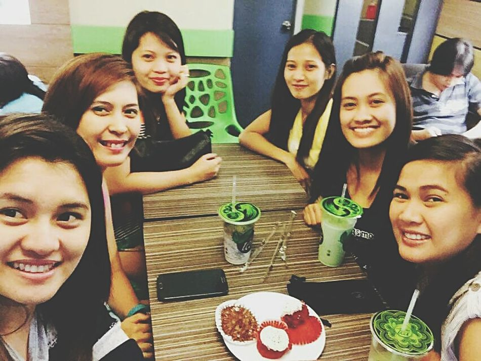 Green Tea Frappe with Cousins  ❤😍