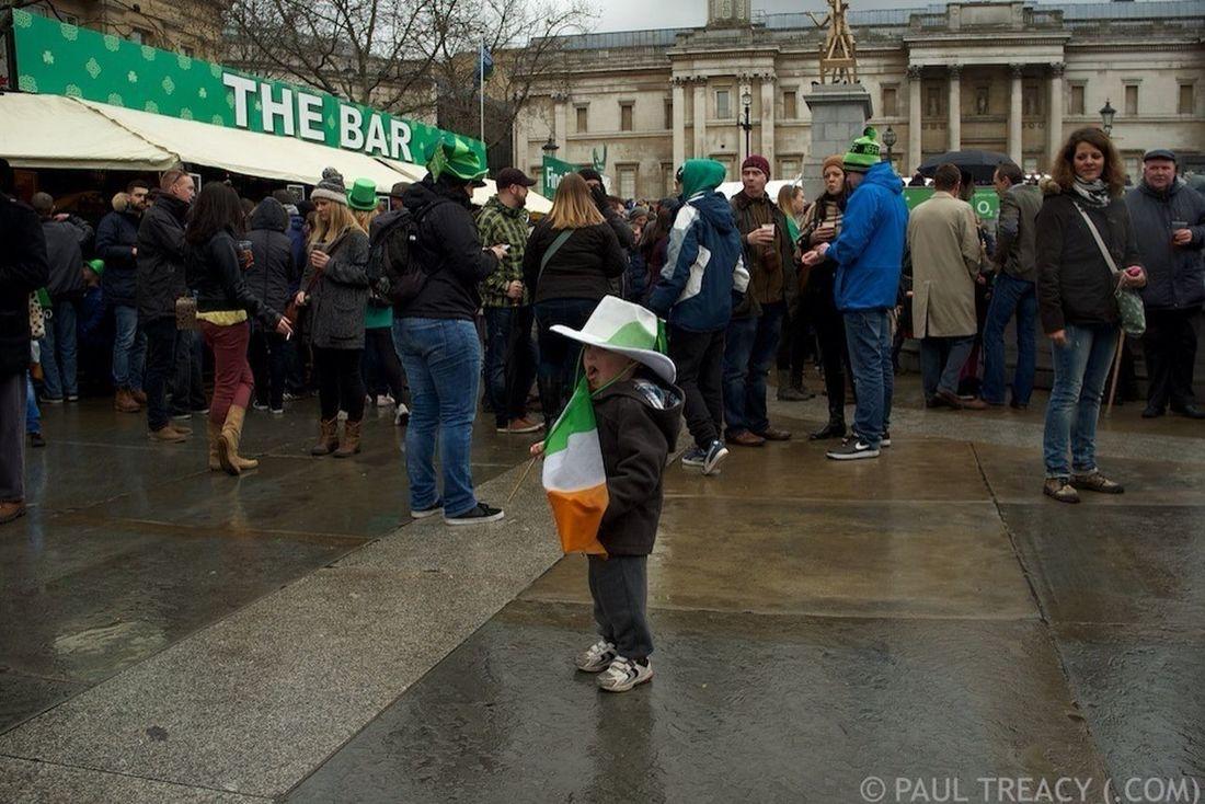 (C) PAUL TREACY (.com) 2013. St Patrick's Day, Trafalgar Square, London. London X100 St Patrick's Day Streetphotography