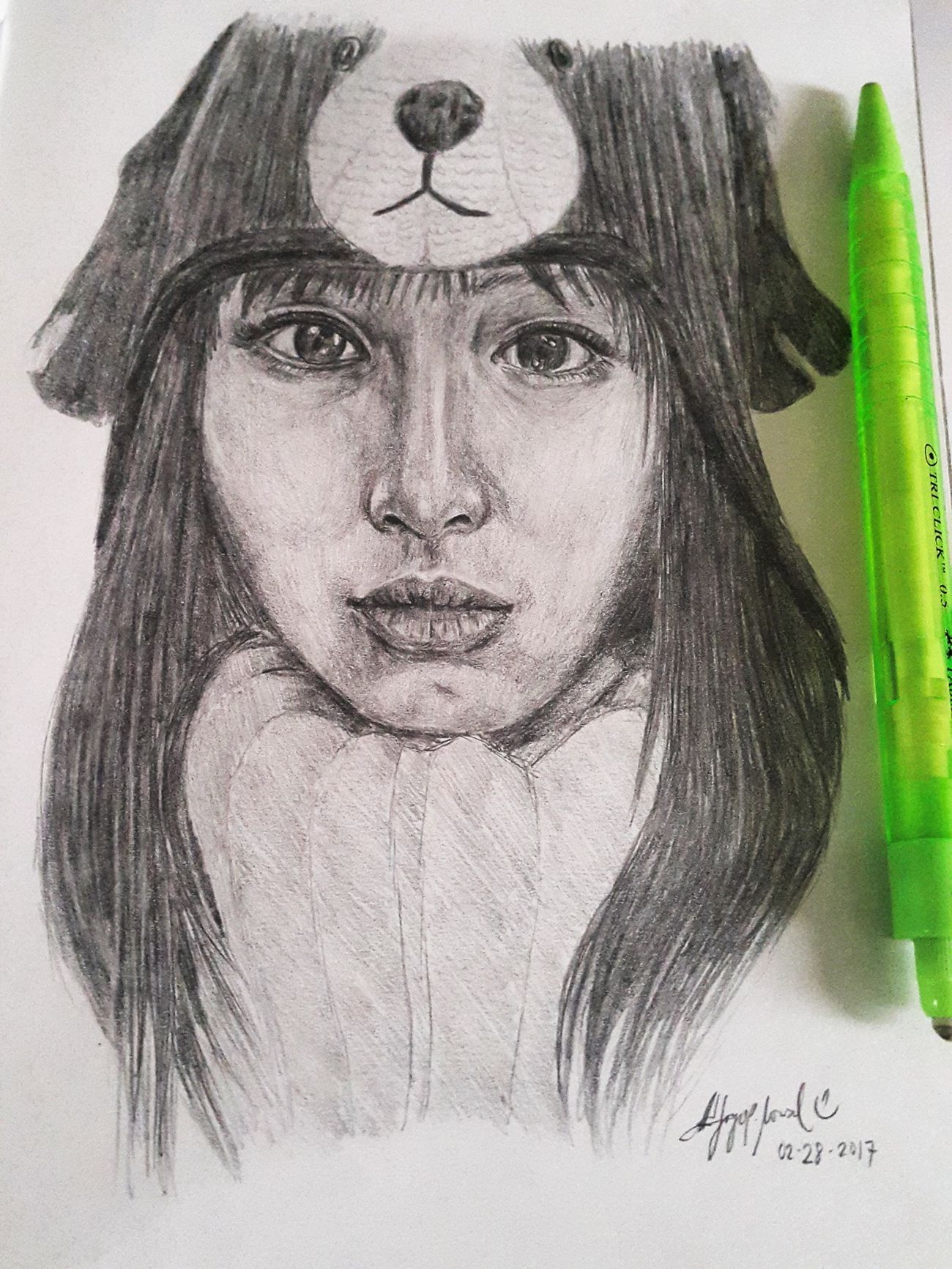 Here's my finished drawing of my girl crush Satomi 😁💖✌ Portrait MyArt Pencil Drawing PracticeMakesPerfect Beginner Artist Art Drawing ArtWork Sketchbook Beauty Asian