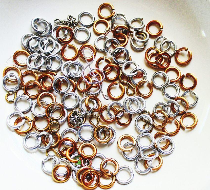 Supplies Crafts ✂️ Chain Mail Rings Jump Ring Jewelrydesign Silver  Brass Art And Craft EyeEm Eyeemphotography Background Eyeemphoto Musicnote Fluer De Lis