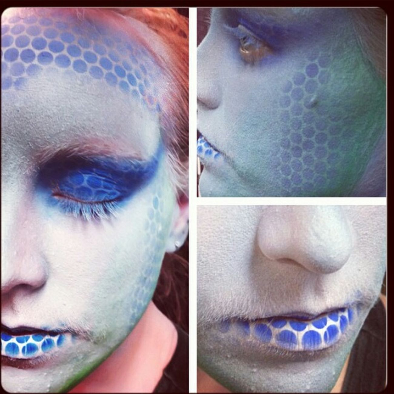 Ice lizard Airbrushmakeup Airbrushing Airbrushed Stencil Art Stencil Stencilart Makeup Makeupartist Makeup ♥ Check This Out Hello World Mua Theatriclemakeup Stage Stagemakeup