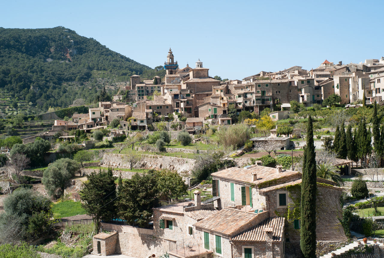 Overview of Valldemossa on Mallorca island Aerial View Architecture Baleares Balearic Islands Majorca Majorca, Spain Mallorca Mediterranean  Mediterranean Architecture Overview SPAIN Tramuntana Travel Destination Travel Destinations Valldemossa