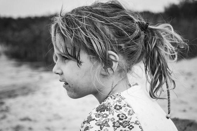 Child Girl On The Beach Cute Little Dirty Face. ;)