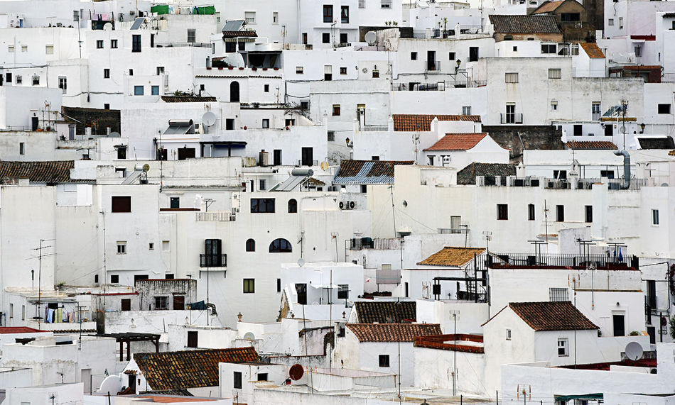 Andalucía Andalusia Architecture Building Exterior Built Structure Cadiz Day Europe House Houses Landscape Outdoors Residential Building Residential District Roof SPAIN Town White White Town