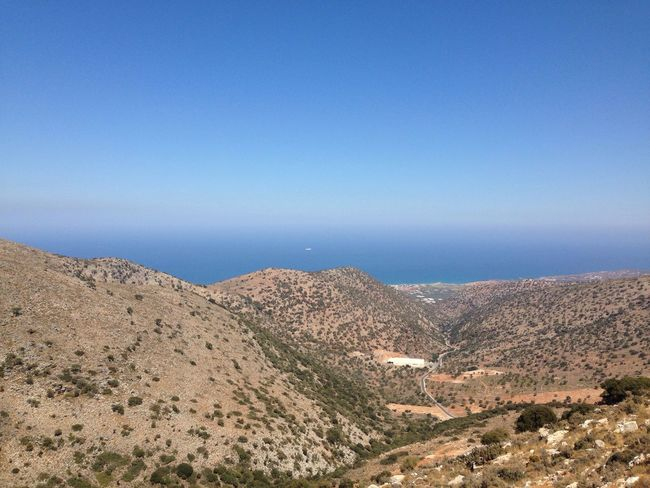 Beauty In Nature Blue Mountain Scenics Tranquility Landscape Nature Travel Destinations Tourism Crete Crete Greece Enjoying The View