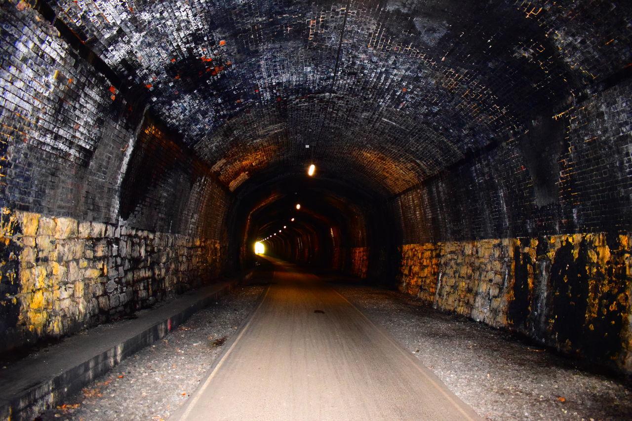 Alone Bricks Dark Darkness And Light Inside Tunnel Lights No People Outdoors Peak District  Stil Train Tunnel Tunnel EyeEmNewHere