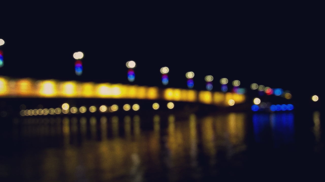Architecture Belgrade Brankovmost Bridge Bridge - Man Made Structure City Connection Defocused Illuminated Multi Colored Night No People Outdoors Reflection River Suspension Bridge Transportation Water