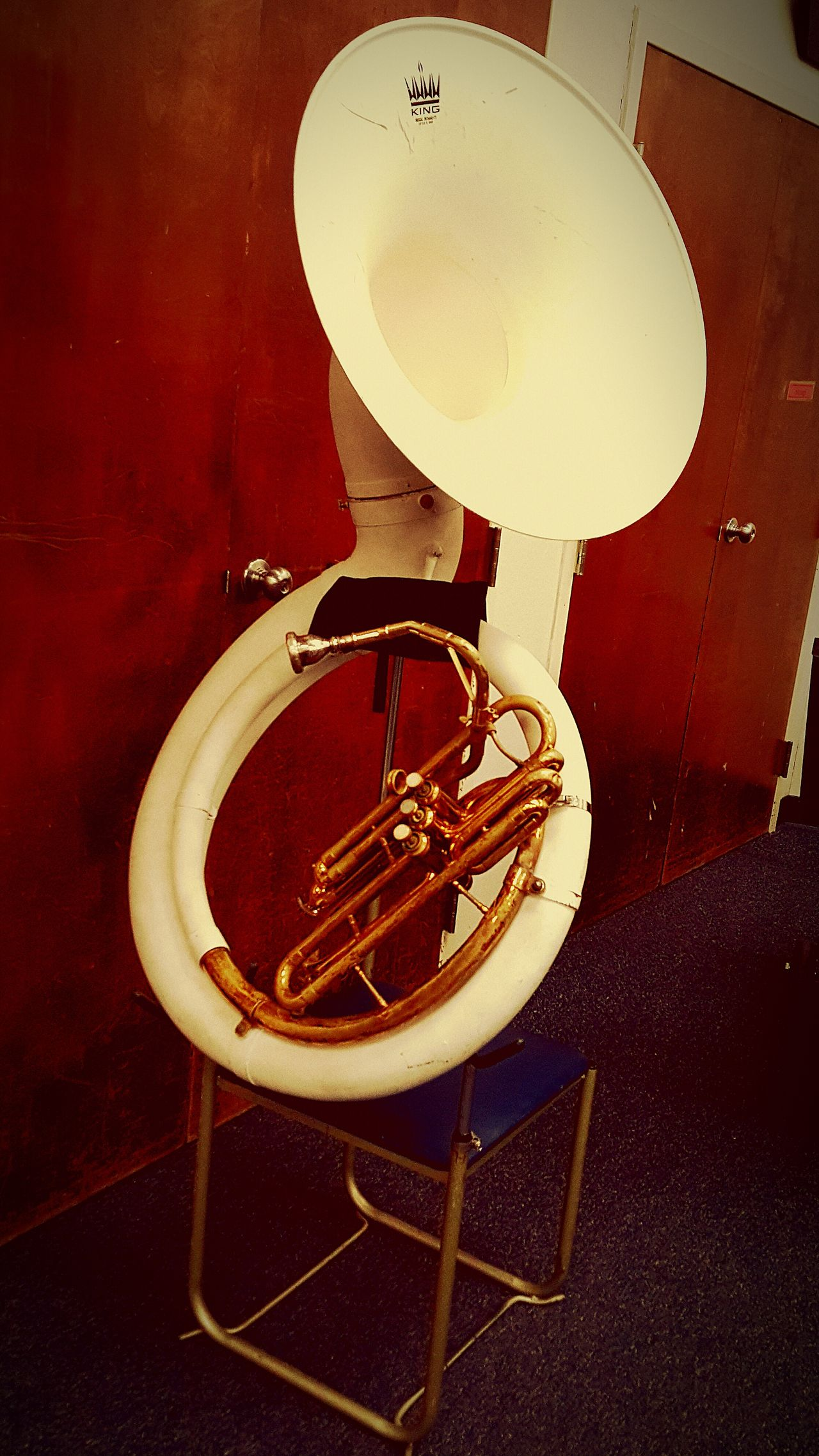 Cool Sousaphone on a stand in a band room. Tuba Band Cool First Eyeem Photo