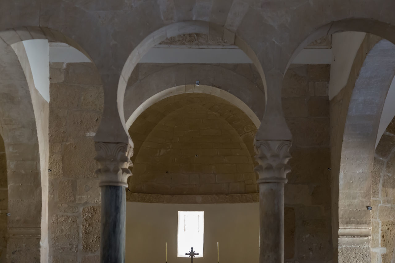Inside the Monasterio San Miguel De La Escalada Altar Inside Moorish Architecture No People Place Of Worship Silence Small Chuch Window