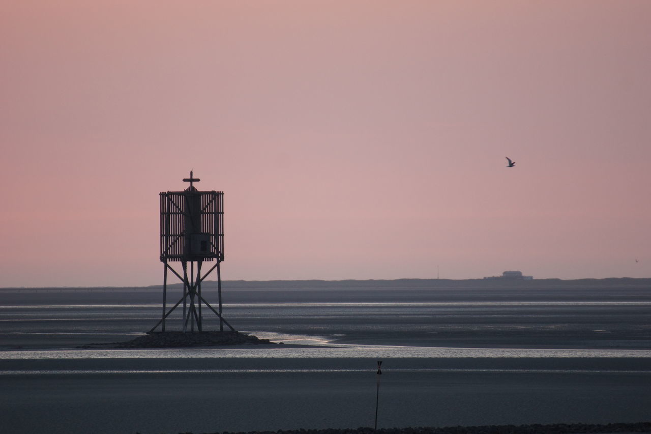 The Wadden Sea Beach Beauty In Nature Bird Evening Flying Germany Hamburg Horizon Over Water Low Tide Neuwerk No People North Sea Northern Germany Outdoors Scenics Sea Silhouette Sky Sunset Tides Tranquil Scene Tranquility Twilight Wadden Sea Water