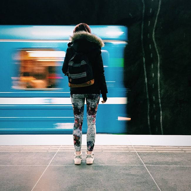 Subway Streetphotography Waiting For A Train