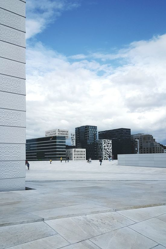 View from the operahouse in OsloCityscapes