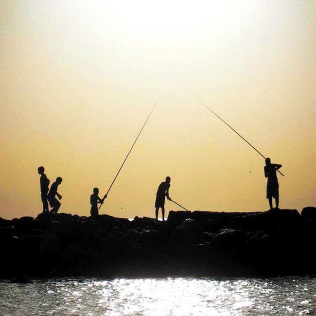 Throughback Golden Israel Telaviv Netanya Beach Mediterraneansea Fishing Angler Sunshine Sunset Summer Favourite Cover Photo Whereismymind